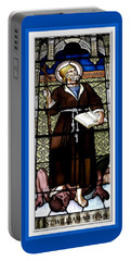 Saint William Of Aquitaine Stained Glass Window Portable Battery Charger