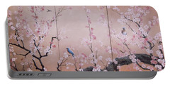 Sakura - Cherry Trees In Bloom Portable Battery Charger by Sorin Apostolescu