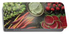 Portable Battery Charger featuring the photograph Salad Legume Vegetables Healthy Food Cuisine Chef Kitchen Christmas Holidays Birthday Mom Dad Sister by Navin Joshi