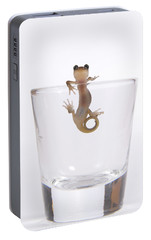 Salamander In A Glass Portable Battery Charger by Sheila Fitzgerald