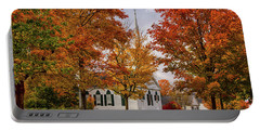 Portable Battery Charger featuring the photograph Salem Church In Autumn by Jeff Folger