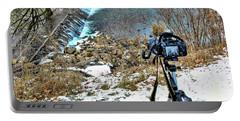 Saline River Winter Landscape Portable Battery Charger