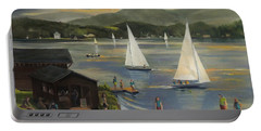 Sailing At Lake Morey Vermont Portable Battery Charger by Nancy Griswold