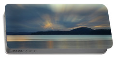 Salish Sea Sunrise - 365-350 Portable Battery Charger by Inge Riis McDonald