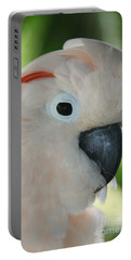 Salmon Crested Moluccan Cockatoo Portable Battery Charger by Sharon Mau