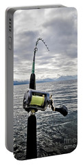 Salmon Fishing Rod Portable Battery Charger by Darcy Michaelchuk