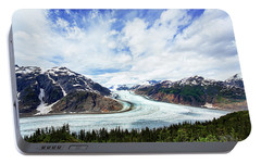 Salmon Glacier Portable Battery Charger by Heidi Brand