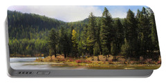 Salmon Lake Montana Portable Battery Charger by Susan Kinney