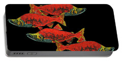 Salmon Season Portable Battery Charger