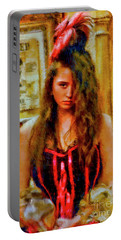 Saloon Girl Portable Battery Charger