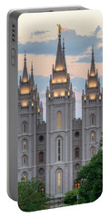 Salt Lake City Temple Morning Portable Battery Charger