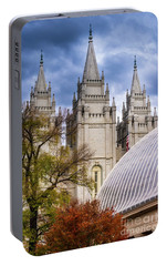 Portable Battery Charger featuring the photograph Salt Lake Lds Temple And Tabernacle - Utah by Gary Whitton