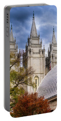 Salt Lake Lds Temple And Tabernacle - Utah Portable Battery Charger by Gary Whitton