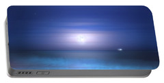 Portable Battery Charger featuring the photograph Salt Moon by Mark Andrew Thomas