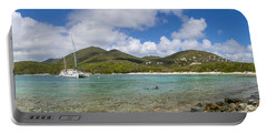 Portable Battery Charger featuring the photograph Salt Pond Bay Panoramic by Adam Romanowicz