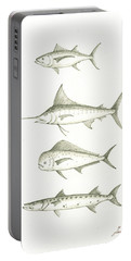 Saltwater Gamefishes Portable Battery Charger by Juan Bosco
