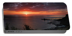 Saltwick Bay Sunrise  Portable Battery Charger by David  Hollingworth