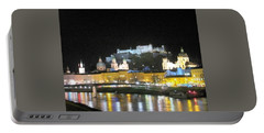 Salzburg At Night Portable Battery Charger