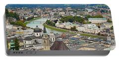 Salzburg From Hohensalzburg Castle Portable Battery Charger