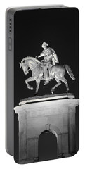 Sam Houston - Black And White Portable Battery Charger