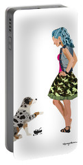 Portable Battery Charger featuring the digital art Samantha by Nancy Levan