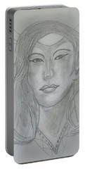 Samarai Warrior Woman Portable Battery Charger by Sharyn Winters
