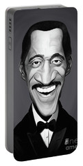 Portable Battery Charger featuring the digital art Celebrity Sunday - Sammy Davis Jnr by Rob Snow
