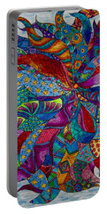Portable Battery Charger featuring the drawing Sampler by Megan Walsh