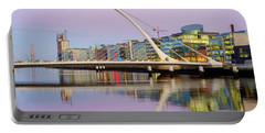 Samuel Beckett Bridge At Dusk Portable Battery Charger