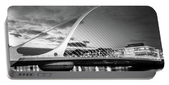 Samuel Beckett Bridge In Bw Portable Battery Charger