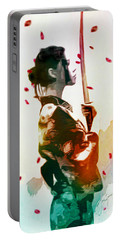 Samurai Girl - Watercolor Painting Portable Battery Charger