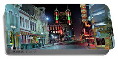 Portable Battery Charger featuring the photograph San Antonio Alight by Frozen in Time Fine Art Photography