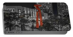 San Antonio La Antorcha De La Amistad Sculpture In Selective Color Portable Battery Charger