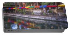 San Antonio Riverwalk Colors Portable Battery Charger
