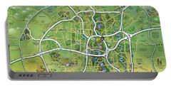 San Antonio Texas Cartoon Map Portable Battery Charger