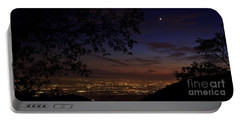San Bernardino Twilight Hour Portable Battery Charger by Angela J Wright