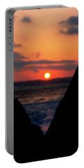 San Clemente Beach Rock View Sunset Portrait Portable Battery Charger by Matt Harang