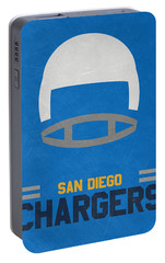 San Diego Chargers Vintage Art Portable Battery Charger by Joe Hamilton