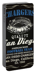 San Diego Chargers Whiskey Portable Battery Charger