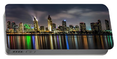 San Diego Skyline At Night Portable Battery Charger