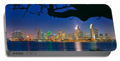 San Diego Skyline From Bay View Park In Coronado Portable Battery Charger
