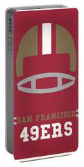 San Francisco 49ers Vintage Art Portable Battery Charger