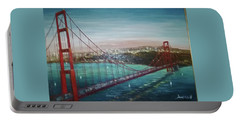 San Francisco And The Golden Gate Bridge Portable Battery Charger