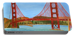San Francisco Bridge  Portable Battery Charger by Magdalena Frohnsdorff