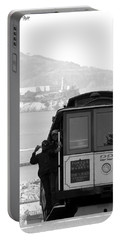 San Francisco Cable Car With Alcatraz Portable Battery Charger