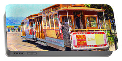 San Francisco Cablecar At Fishermans Wharf . 7d14097 Portable Battery Charger