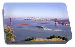Portable Battery Charger featuring the photograph San Francisco - City By The Bay by Art Block Collections