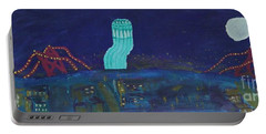 San Francisco Coit Tower Abstract Portable Battery Charger