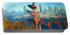 San Francisco Earthquake - Modern Artwork Portable Battery Charger