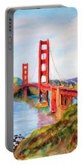 San Francisco Golden Gate Bridge Impressionism Portable Battery Charger